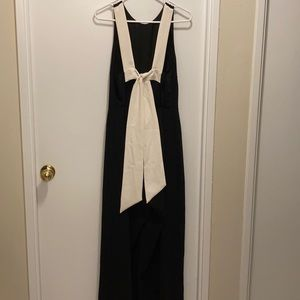 H&M Black Jumpsuit with White Back Tie